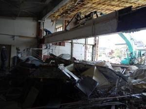 2階床梁の解体状況